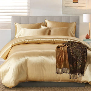 Silk Like Satin Duvet Cover Set