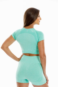 Mykonos Seamless Top-Green