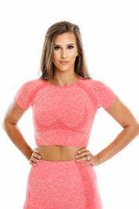 Mykonos Seamless Top-Coral