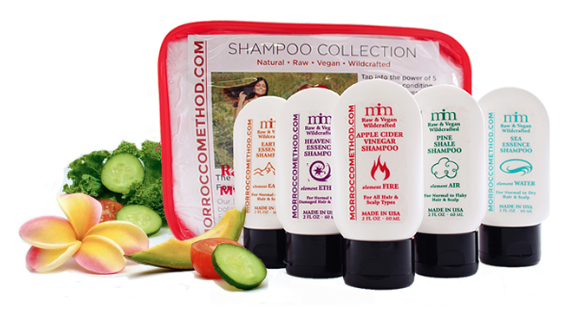 morrocco method trial travel shampoo set