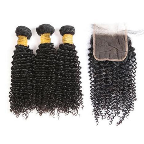 Deal: Kinky Curly Bundles w/ Lace Closure