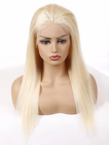 Lace Front Wig: Straight (Blonde)