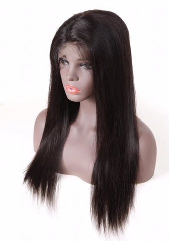 Lace Front Wig: Straight (Black)