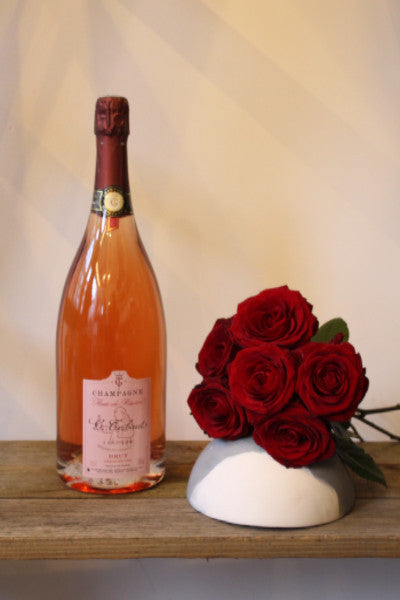 Skinny Rose Champagne & 6 Red Roses