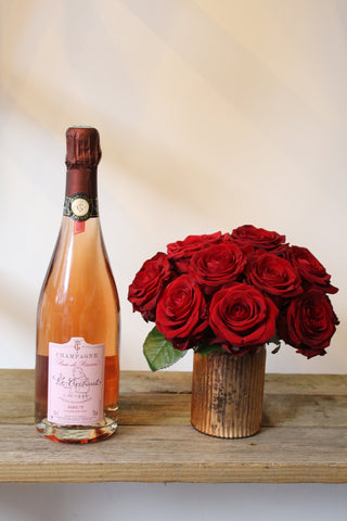 Valentines Day Champagne & Roses