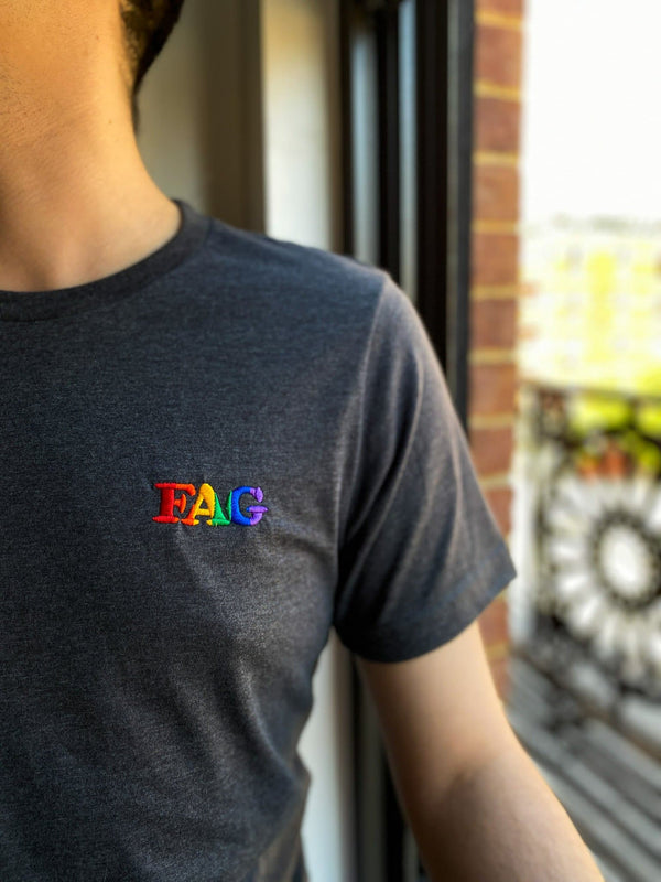 FAG Rainbow Embroidered T-Shirt