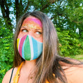 Rainbow Clouds Face Mask