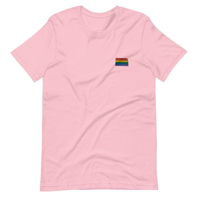 Kansas Rainbow Embroidered T-Shirt