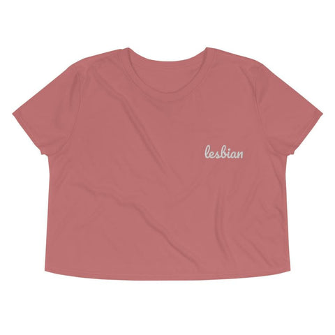 Lesbian Embroidered Crop Top