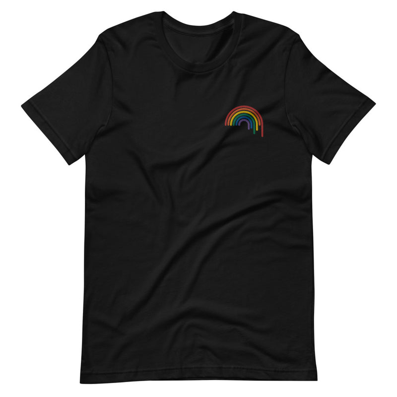 Rainbow Drip Embroidered T-Shirt