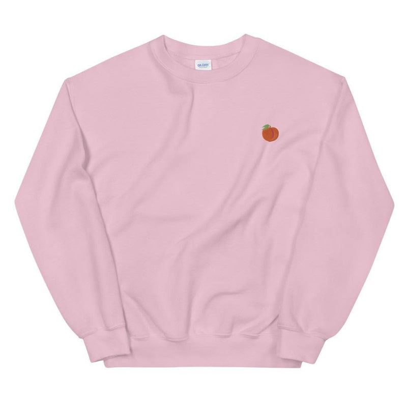 Peach Emoji Embroidered Sweatshirt
