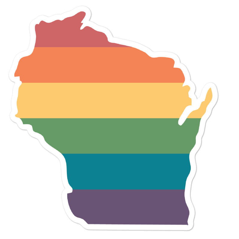 Wisconsin Rainbow Stickers