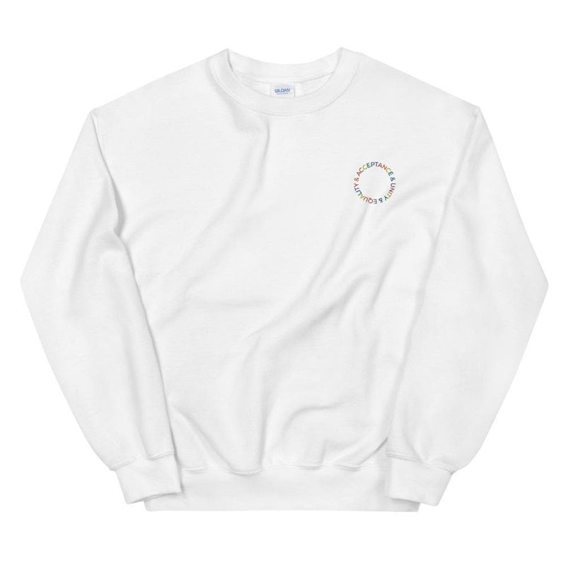 Acceptance & Unity & Equality Embroidered Sweatshirt