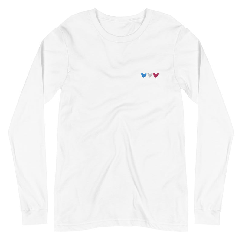 Trans Hearts Embroidered Long Sleeve