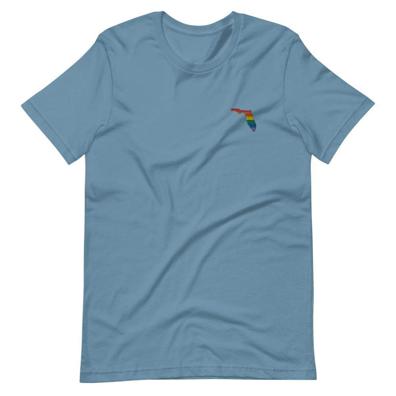 Florida Rainbow Embroidered T-Shirt