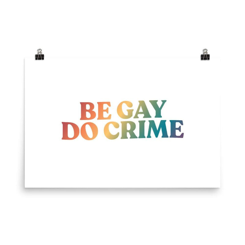 Be Gay Do Crime Poster