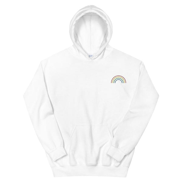 Rainbow Arch Embroidered Hoodie