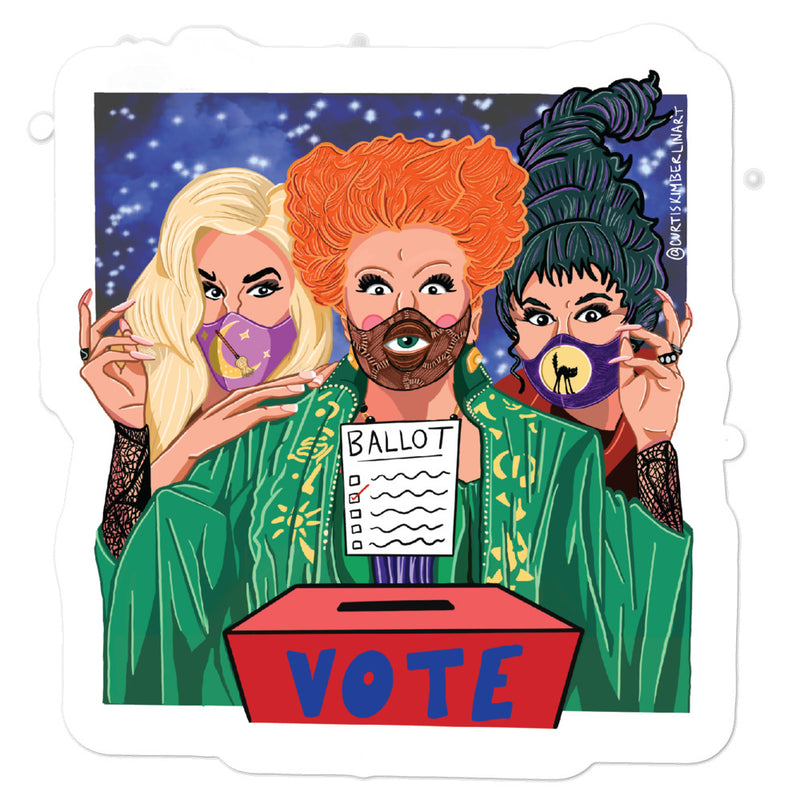 Cast a Spell and Cast your vote Stickers