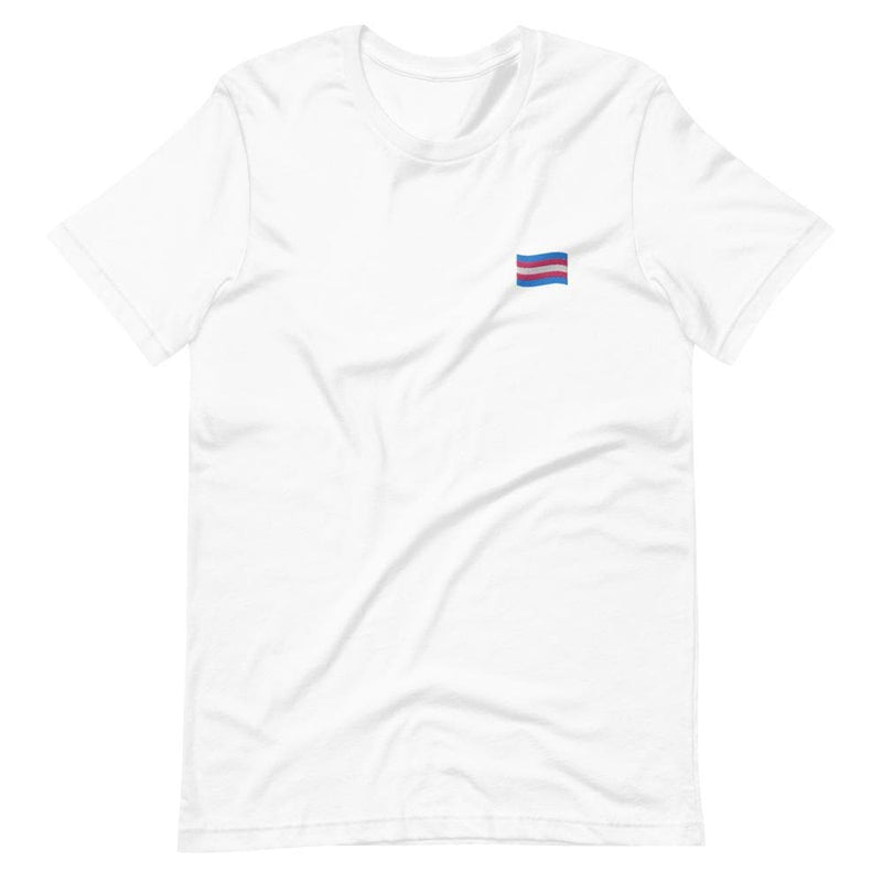 Trans Flag Embroidered T-Shirt