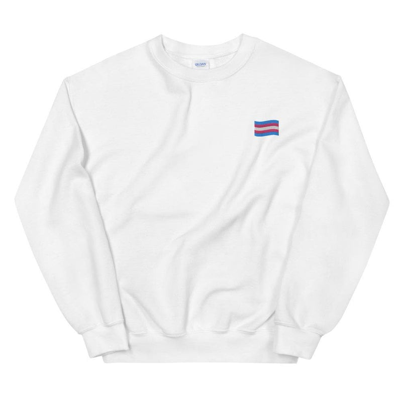Trans Flag Embroidered Sweatshirt