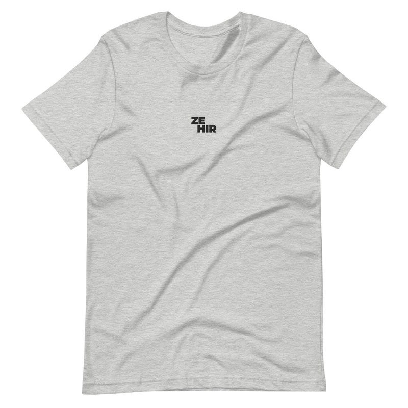 Ze/Hir Pronouns Embroidered T-Shirt
