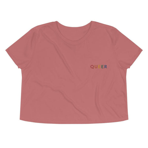 Queer Embroidered Crop Top