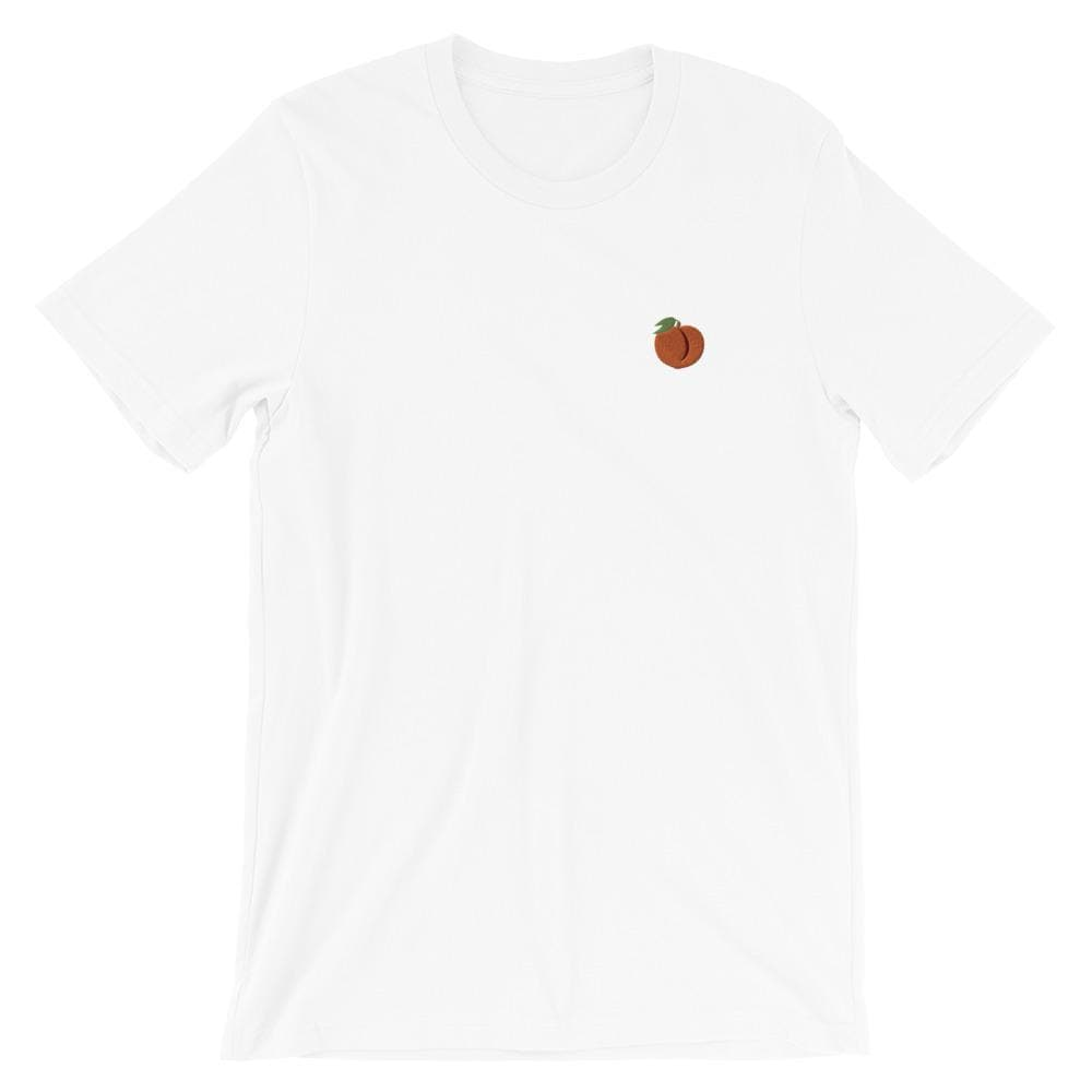 Peach Emoji Embroidered T-Shirt
