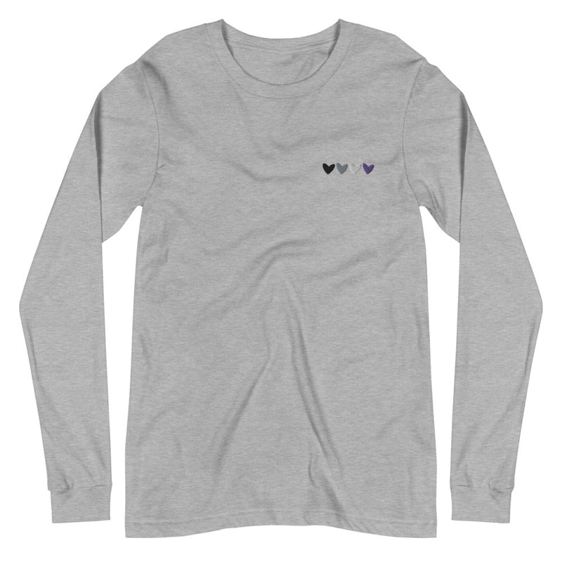 Asexual Hearts Embroidered Long Sleeve