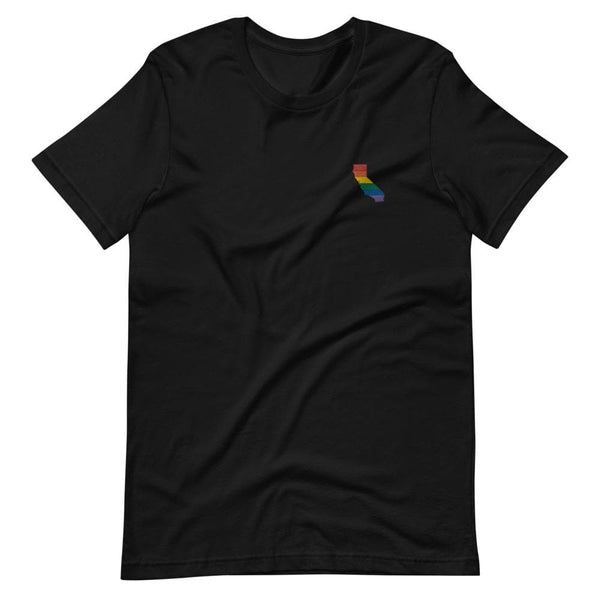 California Rainbow Embroidered T-Shirt