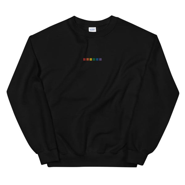 Rainbow Squares Embroidered Sweatshirt