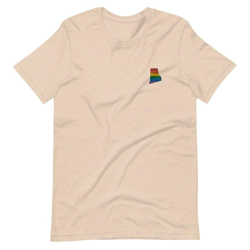 Rhode Island Rainbow Embroidered T-Shirt