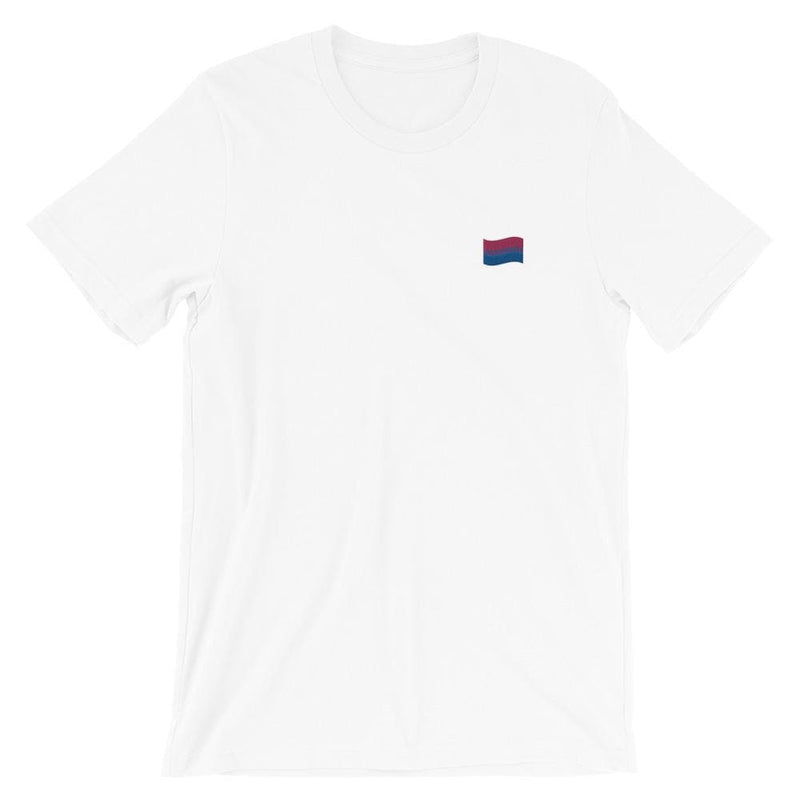 Bisexual Flag Embroidered T-Shirt