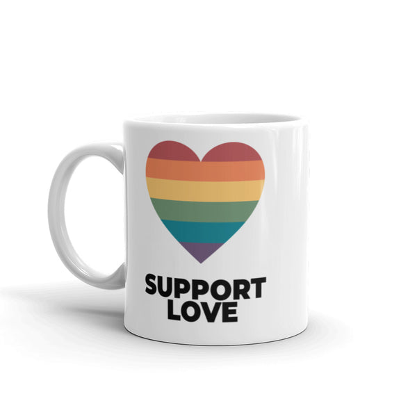 Support Love Heart Mug