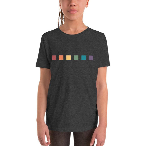 Rainbow Squares Youth Short Sleeve T-Shirt