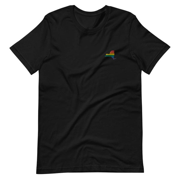 New York Rainbow Embroidered T-Shirt