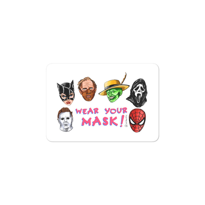 Wear Your Mask Stickers