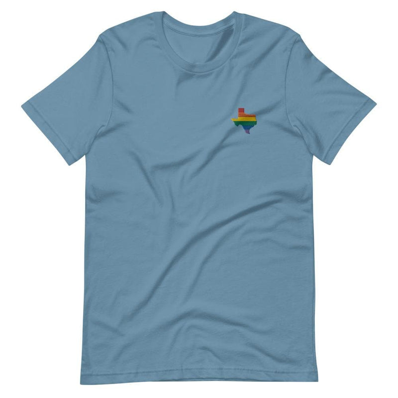 Texas Rainbow Embroidered T-Shirt