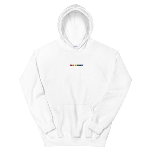 Rainbow Squares Embroidered Hoodie