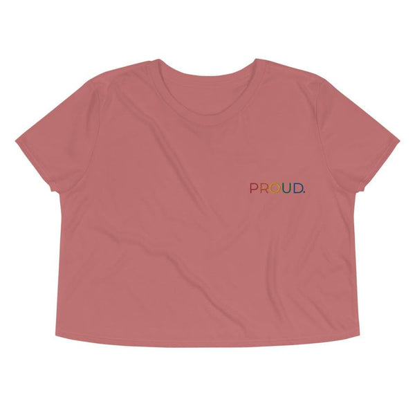 Proud Embroidered Crop Top