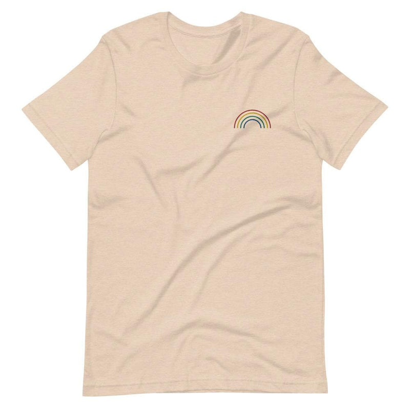 Rainbow Arch Embroidered T-Shirt