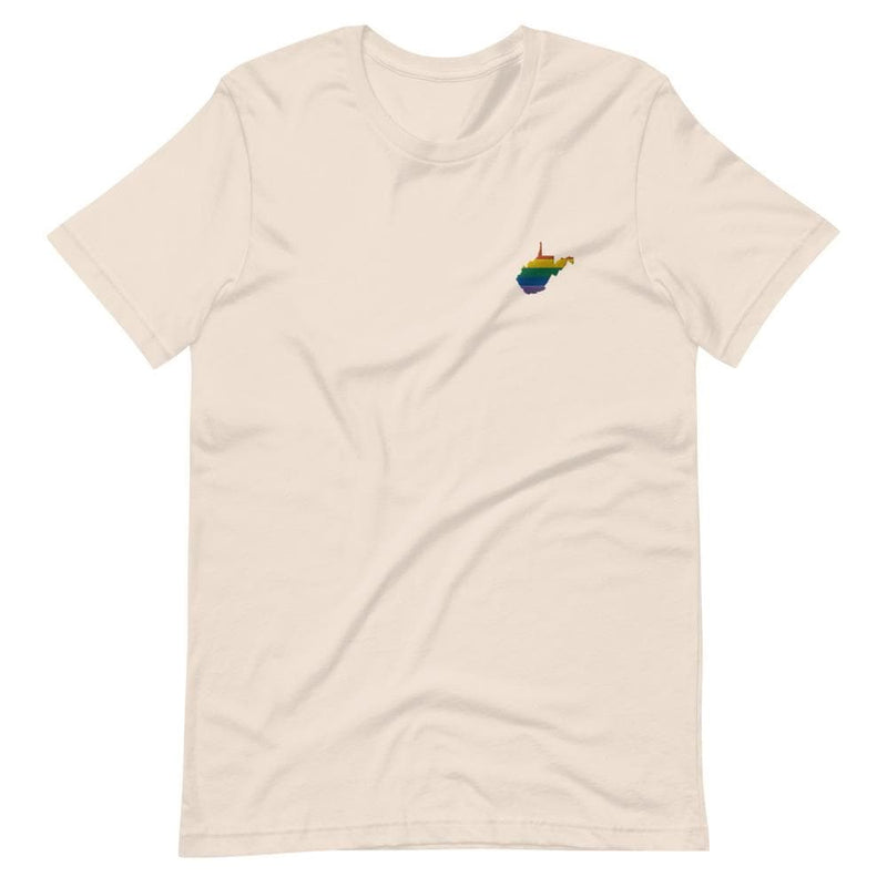 West Virginia Rainbow Embroidered T-Shirt