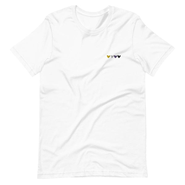 Non-Binary Hearts Embroidered T-Shirt
