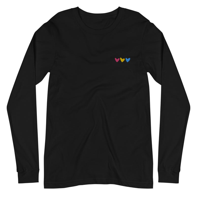 Pan Hearts Embroidered Long Sleeve
