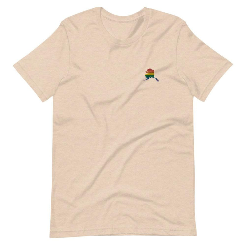 Alaska Rainbow Embroidered T-Shirt