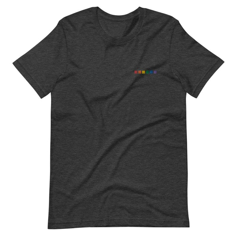 Rainbow Squares Embroidered T-Shirt
