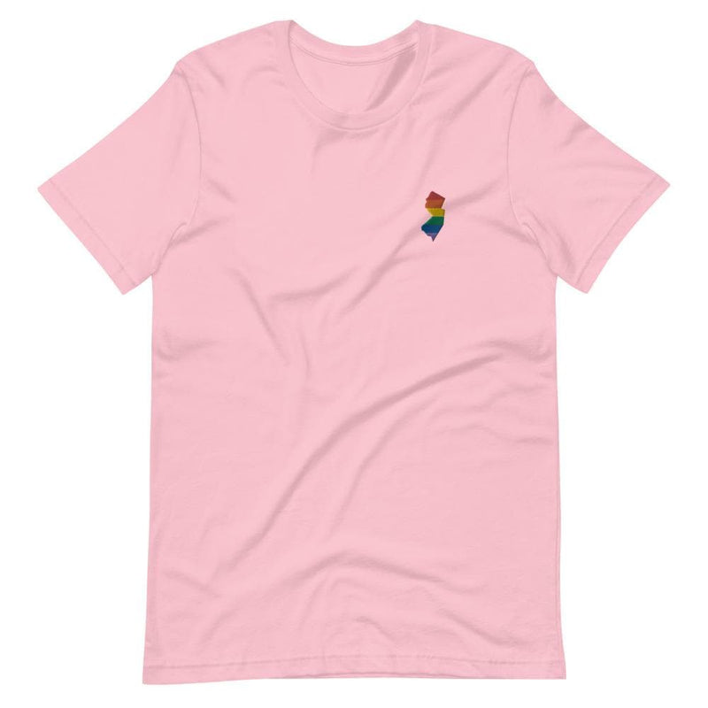 New Jersey Rainbow Embroidered T-Shirt