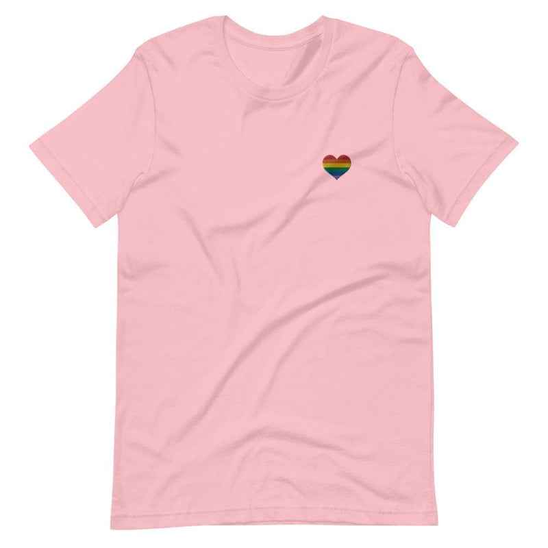 Rainbow Heart Embroidered T-Shirt
