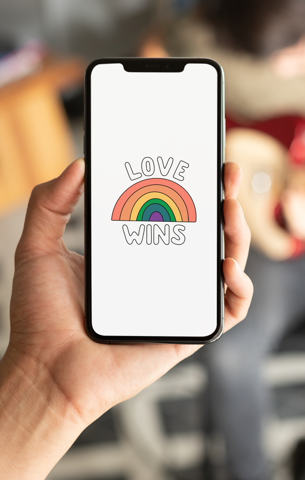 FREE Love Wins Phone Wallpaper