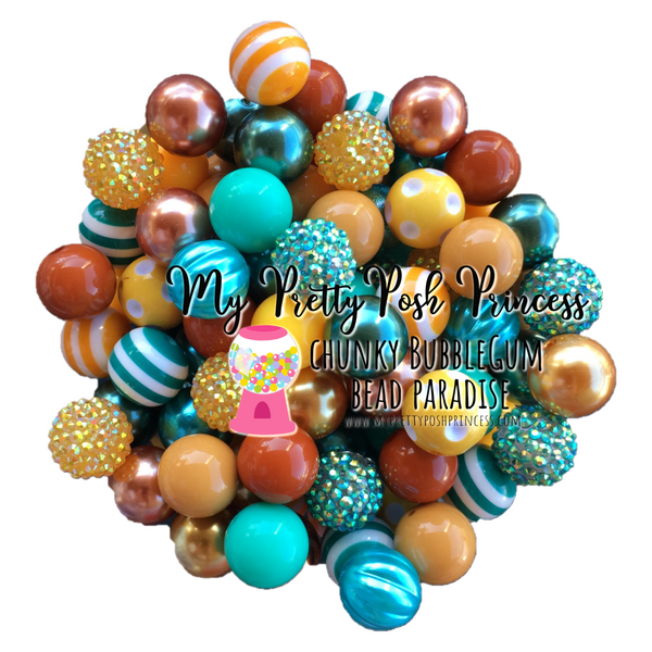 """Autumn Leaves"" Chunky Bubble Gum Bead Themed Bead Lot **Read Item description before purchase!"
