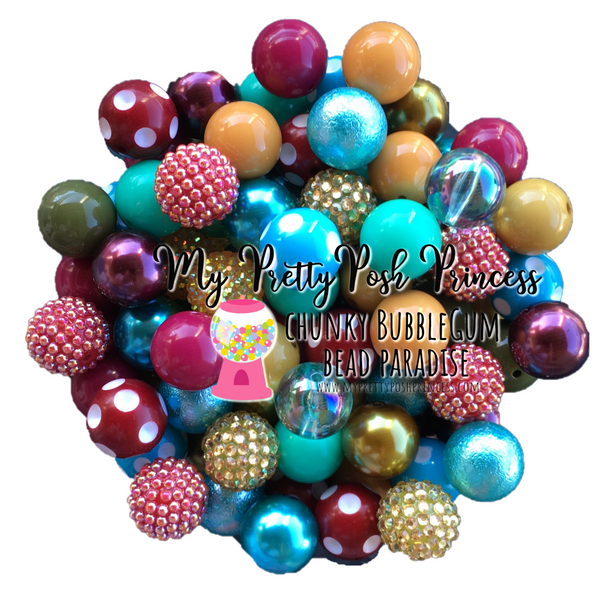 """Fall Festival"" Chunky Bubble Gum Bead Themed Bead Lot **Read Item description before purchase!"